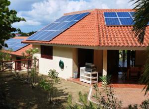 Azotea con los paneles solares